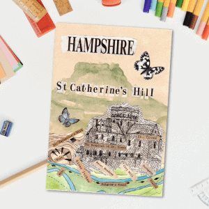 St Catherines Hill postcard