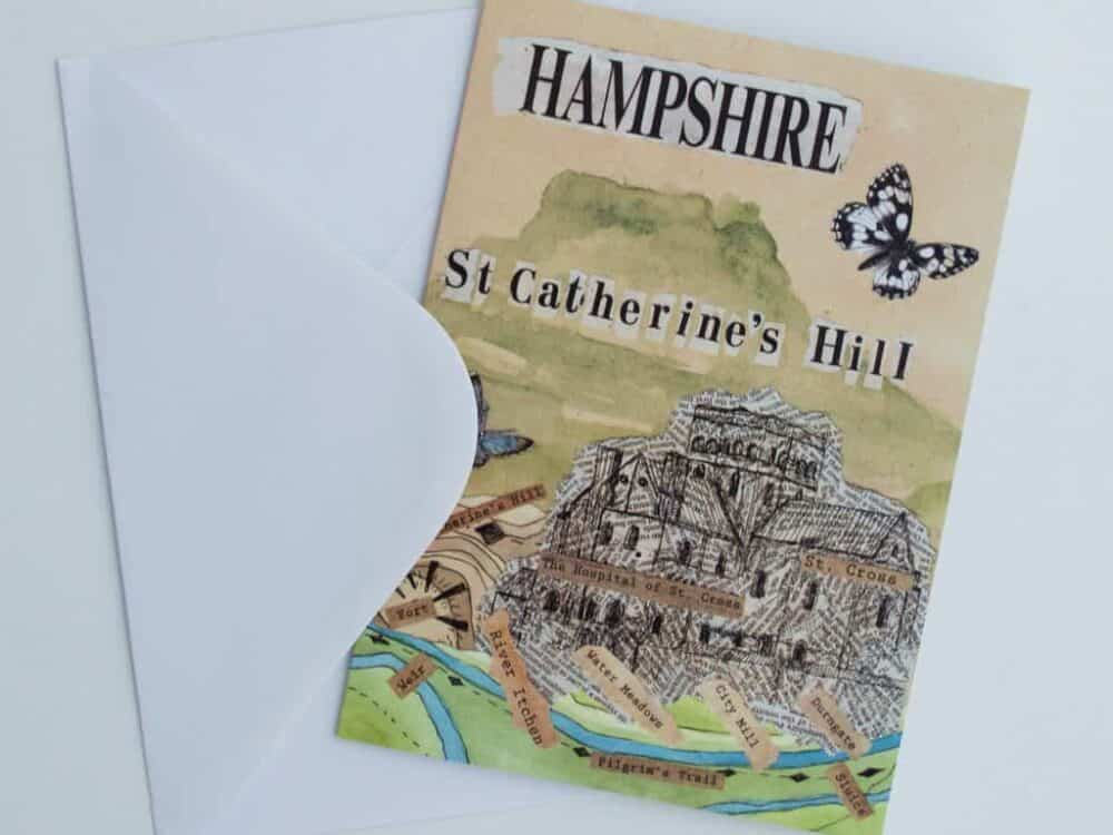 St Catherine's Hill Greeting Card