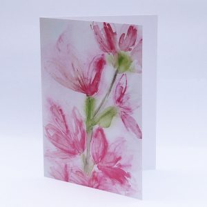 watercolour, painting, greeting card, flowers,
