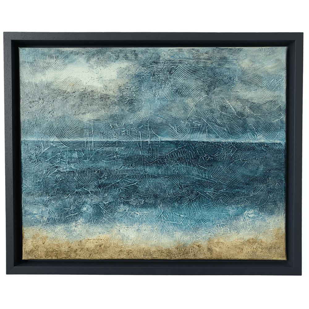 sea, storm, painting, Devon, acrylics, canvas